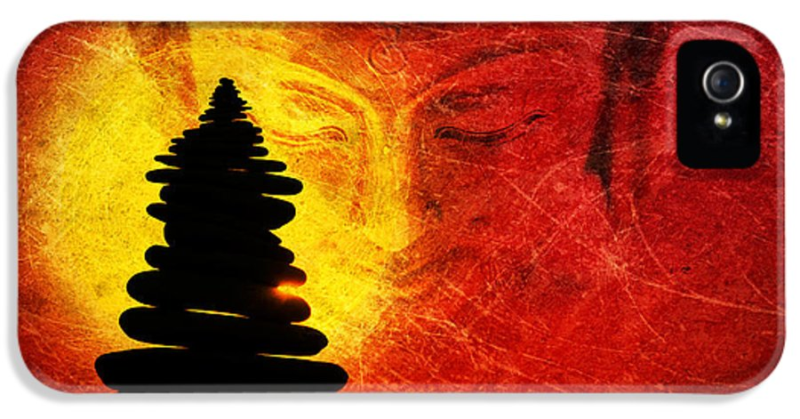 Buddha IPhone 5 / 5s Case featuring the photograph One Stlll Moment by Tim Gainey