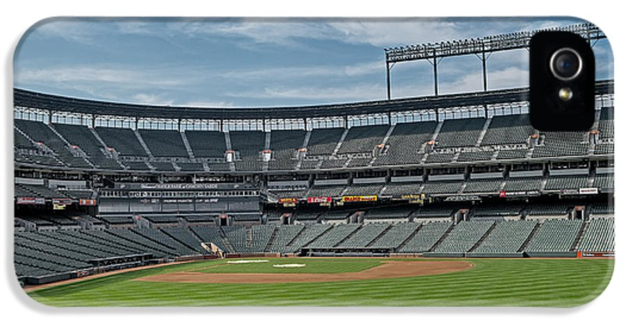 America IPhone 5 / 5s Case featuring the photograph Oriole Park At Camden Yards Stadium by Susan Candelario