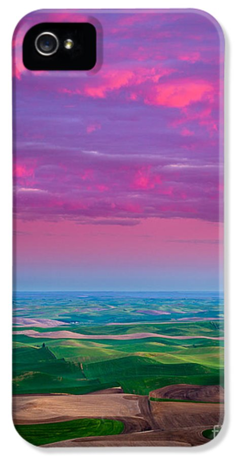 America IPhone 5 / 5s Case featuring the photograph Palouse Fiery Dawn by Inge Johnsson