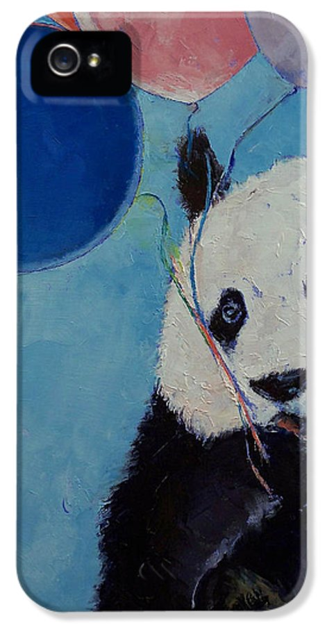 Panda IPhone 5 / 5s Case featuring the painting Panda Party by Michael Creese