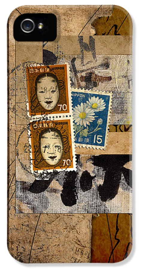 Postage IPhone 5 / 5s Case featuring the photograph Paper Postage And Paint by Carol Leigh