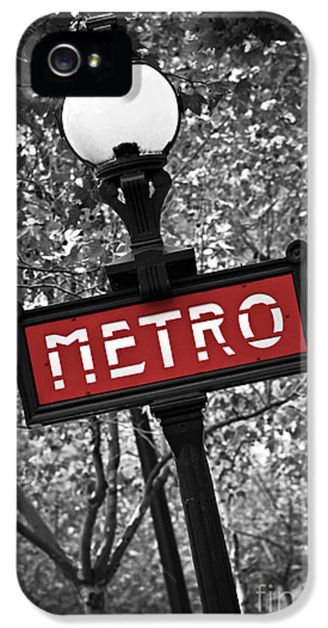 Architecture IPhone 5 / 5s Case featuring the photograph Paris Metro by Elena Elisseeva