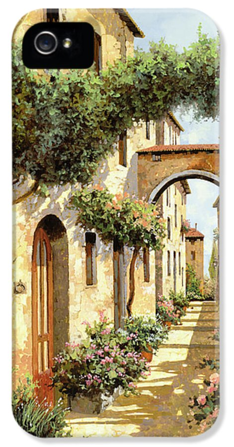 Landscape IPhone 5 / 5s Case featuring the painting Passando Sotto L'arco by Guido Borelli