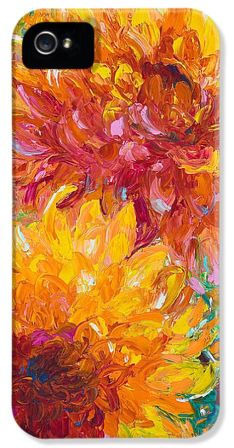 Oil IPhone 5 / 5s Case featuring the painting Passion by Talya Johnson