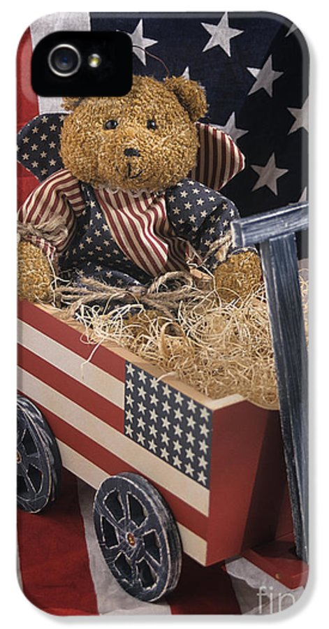 United States IPhone 5 / 5s Case featuring the photograph Patriot Bear by Sharon Elliott