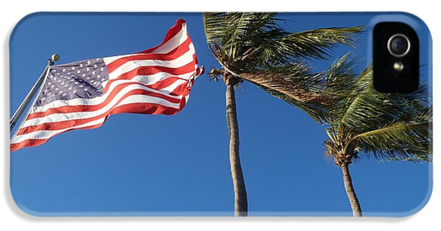 Flag IPhone 5 / 5s Case featuring the photograph Patriot Keys by Carey Chen