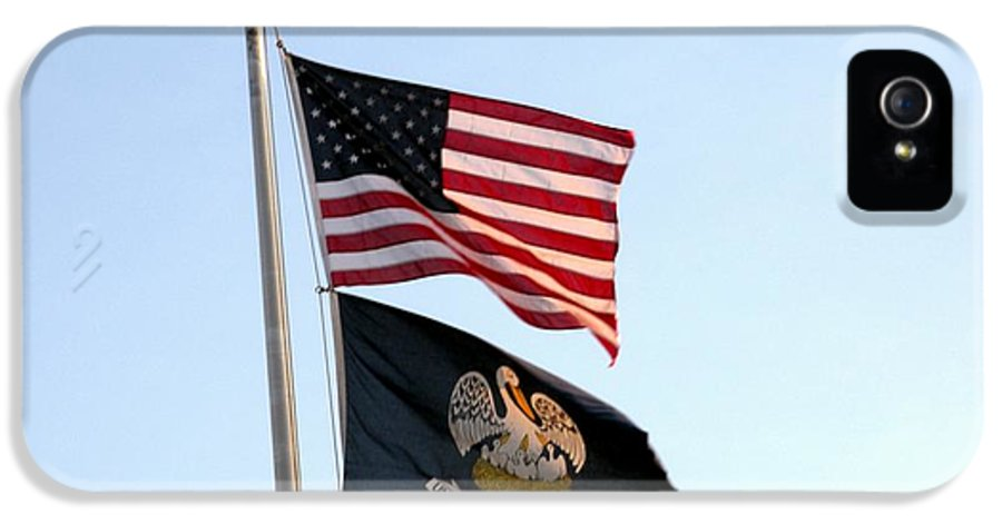 Patriotic Flags IPhone 5 / 5s Case featuring the photograph Patriotic Flags by Joseph Baril