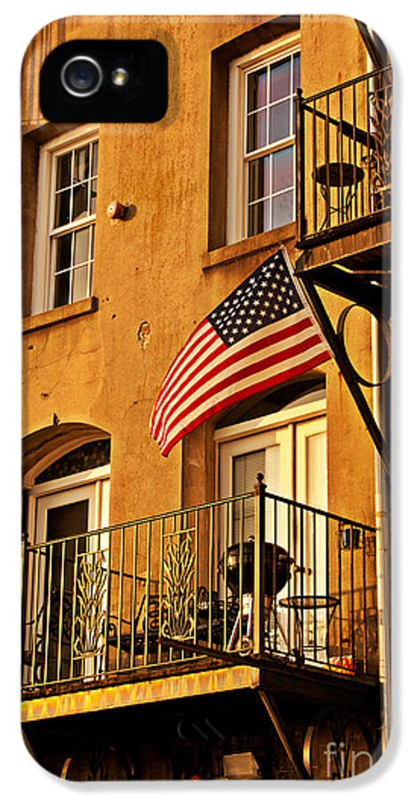 American Flag IPhone 5 / 5s Case featuring the photograph Patriotic by M Glisson