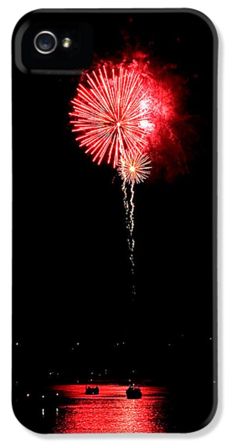 Boats IPhone 5 / 5s Case featuring the photograph Patriotic Red Reflections by Gene Walls