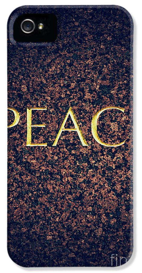 Peace IPhone 5 / 5s Case featuring the photograph Peace by Tim Gainey