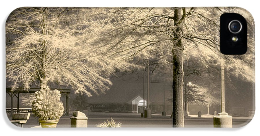 Blizzard IPhone 5 / 5s Case featuring the photograph Peaceful Blizzard by JC Findley