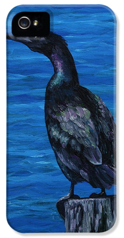Bird IPhone 5 / 5s Case featuring the painting Pelagic Cormorant by Crista Forest