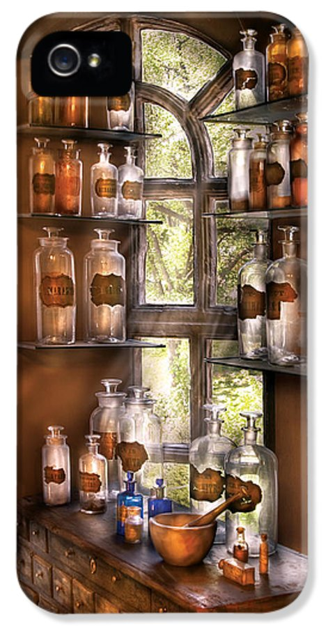 Savad IPhone 5 / 5s Case featuring the photograph Pharmacist - Various Potions by Mike Savad