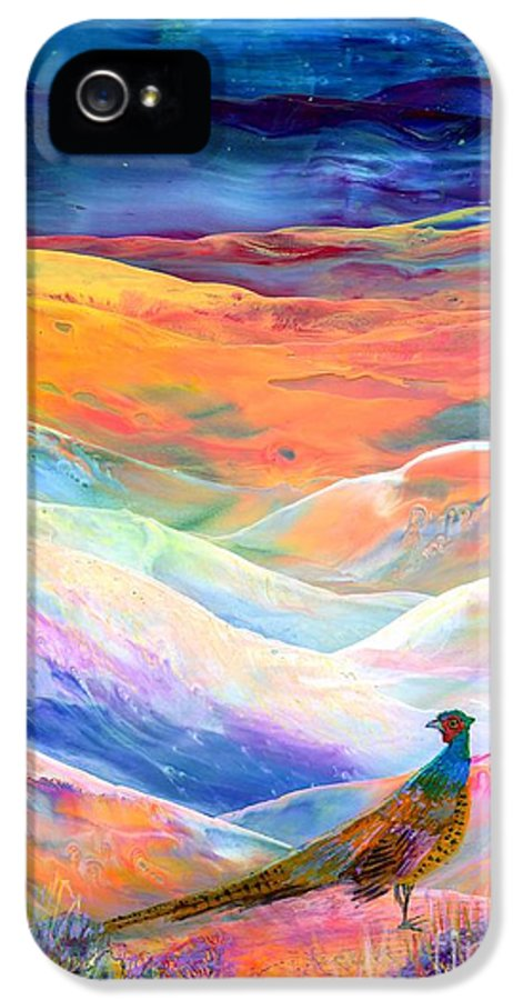 Pheasant IPhone 5 / 5s Case featuring the painting Pheasant Moon by Jane Small
