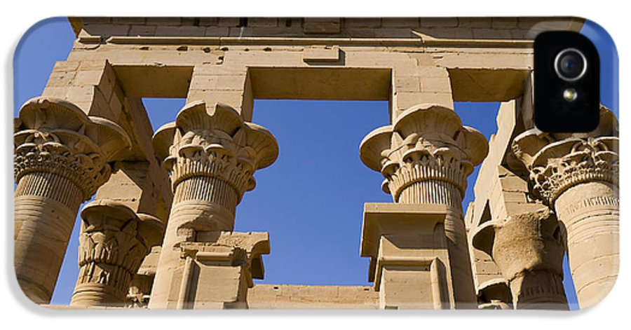 Philae IPhone 5 / 5s Case featuring the photograph Philae Temple Egypt by Brenda Kean