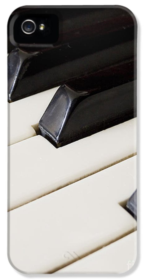 Piano IPhone 5 / 5s Case featuring the pyrography Piano Keys by Jelena Jovanovic