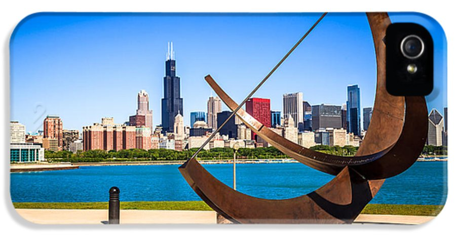 Adler IPhone 5 / 5s Case featuring the photograph Picture Of Chicago Adler Planetarium Sundial by Paul Velgos