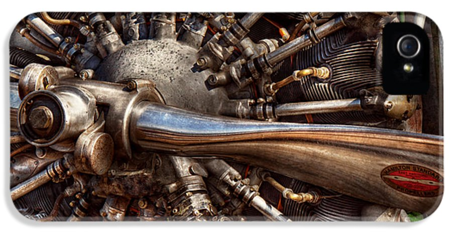 Plane IPhone 5 / 5s Case featuring the photograph Pilot - Plane - Engines At The Ready by Mike Savad