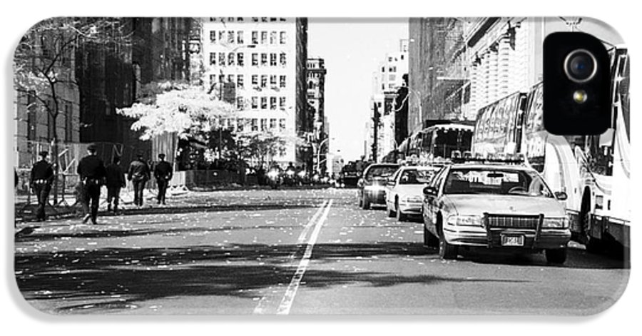 Police Escort 1990s IPhone 5 / 5s Case featuring the photograph Police Escort 1990s by John Rizzuto