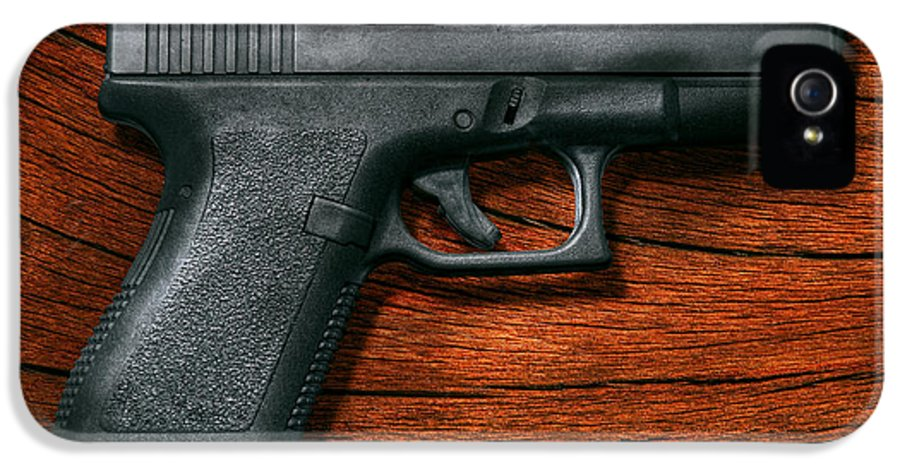 Savad IPhone 5 / 5s Case featuring the photograph Police - Gun - The Modern Gun by Mike Savad