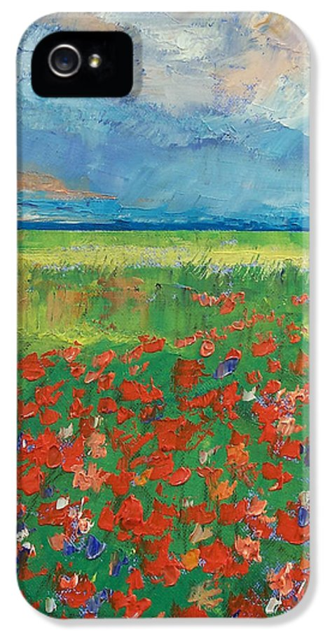 Poppy Field IPhone 5 / 5s Case featuring the painting Poppy Field by Michael Creese