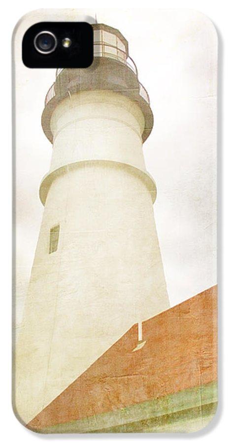 Portland Head Light IPhone 5 / 5s Case featuring the photograph Portland Head Lighthouse Maine by Carol Leigh