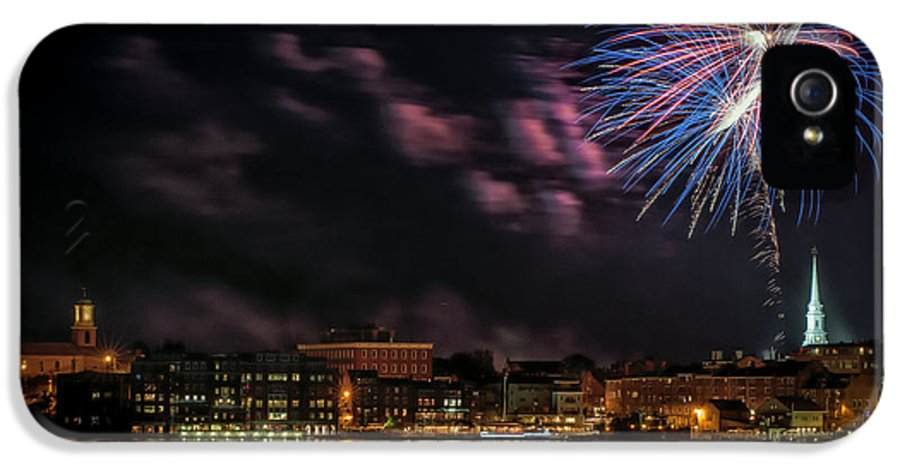 Portsmouth IPhone 5 / 5s Case featuring the photograph Portsmouth Nh Fireworks 2013 by Scott Thorp