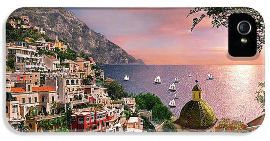 Positano IPhone 5 / 5s Case featuring the digital art Positano by Dominic Davison