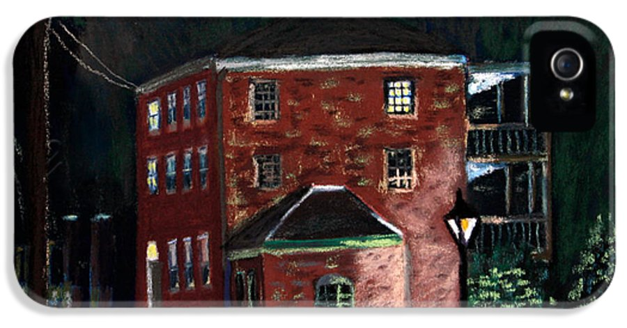 Prescott Park IPhone 5 / 5s Case featuring the pastel Prescott Park At Night by Francois Lamothe