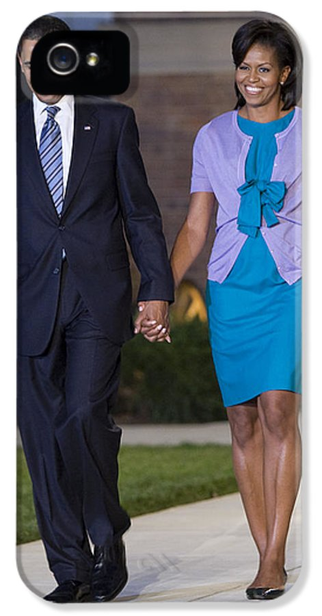 Marine Parade IPhone 5 / 5s Case featuring the photograph President And First Lady by JP Tripp