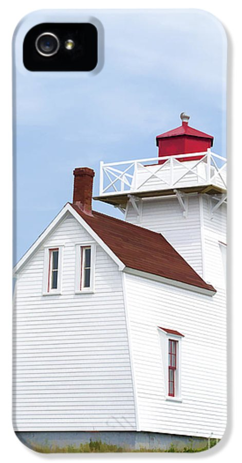 Lighthouse IPhone 5 / 5s Case featuring the photograph Prince Edward Island Lighthouse by Edward Fielding