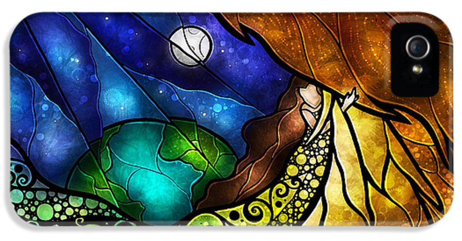 Woman IPhone 5 / 5s Case featuring the digital art Psalm 91-4 by Mandie Manzano