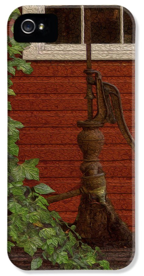 Landscape IPhone 5 / 5s Case featuring the painting Pump by Jack Zulli