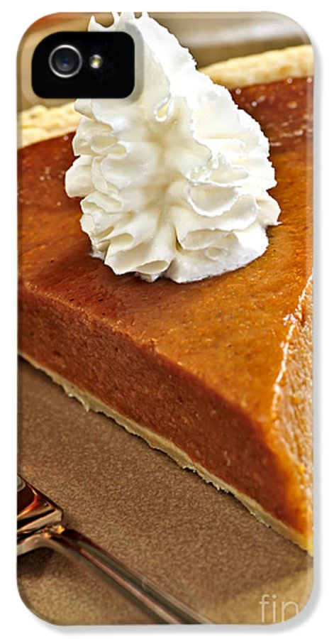 Pie IPhone 5 / 5s Case featuring the photograph Pumpkin Pie by Elena Elisseeva