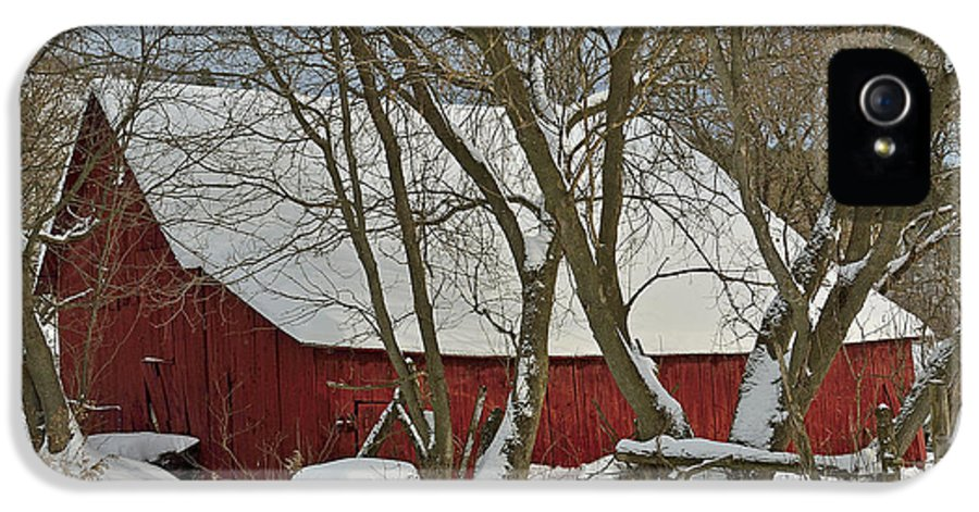 Red Barn IPhone 5 / 5s Case featuring the photograph Quebec Winter by Joshua McCullough
