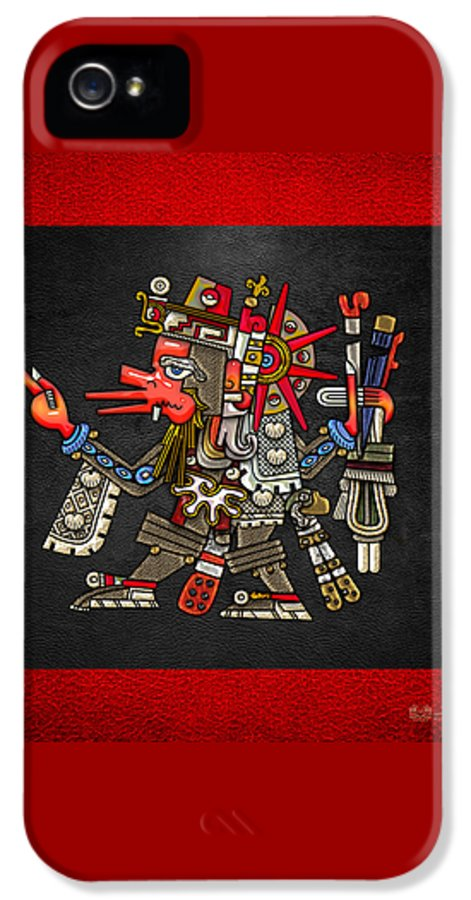 'treasures Of Mesoamerica' Collection By Serge Averbukh IPhone 5 / 5s Case featuring the digital art Quetzalcoatl In Human Warrior Form - Codex Borgia by Serge Averbukh