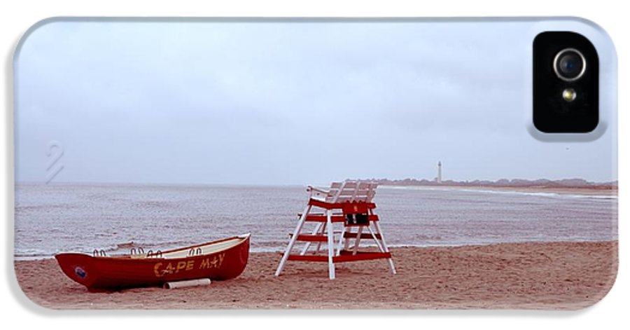 Rainy IPhone 5 / 5s Case featuring the photograph Rainy Day In Cape May by Bill Cannon