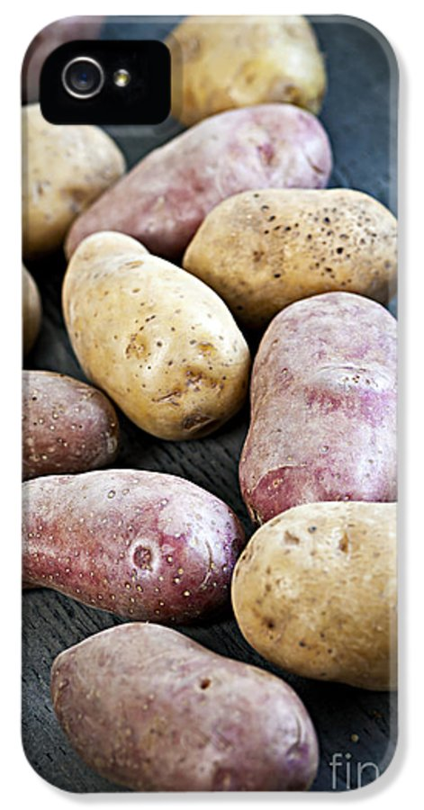 Potatoes IPhone 5 / 5s Case featuring the photograph Raw Potatoes by Elena Elisseeva