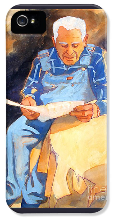 Paintings IPhone 5 / 5s Case featuring the painting Reading Time by Kathy Braud