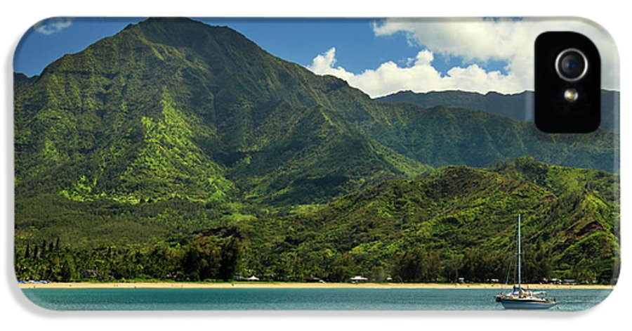 Sailboat IPhone 5 / 5s Case featuring the photograph Ready To Sail In Hanalei Bay by James Eddy