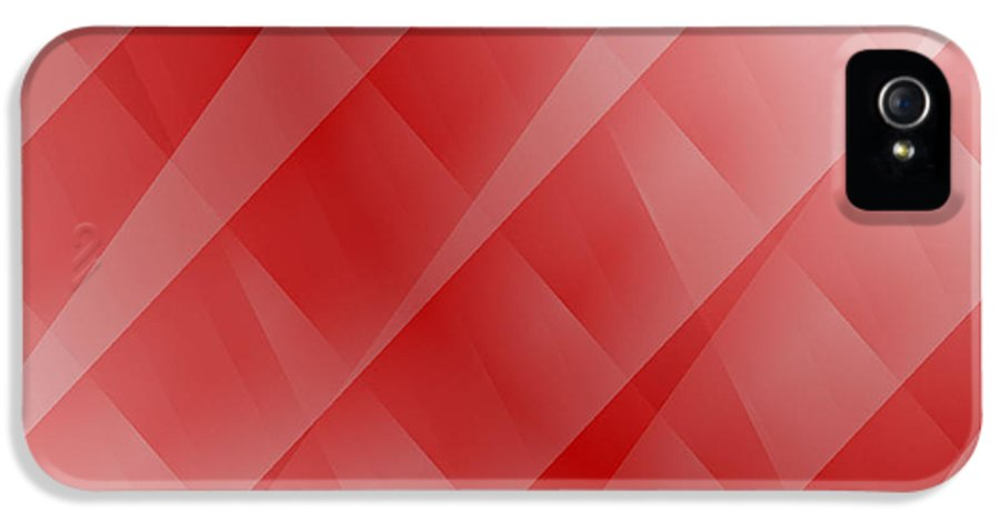Abstract IPhone 5 / 5s Case featuring the digital art Red by Cathie Tyler