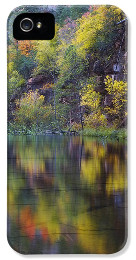 Arizona IPhone 5 / 5s Case featuring the photograph Reflected Fall by Peter Coskun