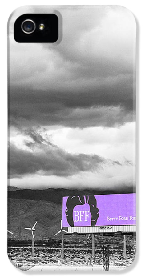 Windmills IPhone 5 / 5s Case featuring the photograph Remembrance Palm Springs First Lady Betty Ford by William Dey