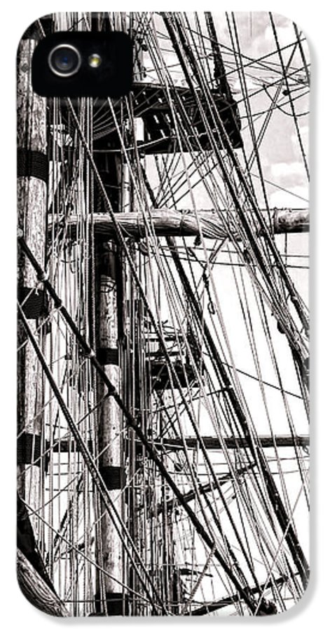 Sailing IPhone 5 / 5s Case featuring the photograph Rigging by Olivier Le Queinec