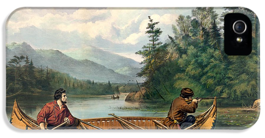 Antique IPhone 5 / 5s Case featuring the digital art River Hunting by Gary Grayson