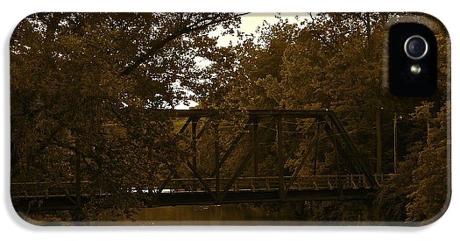 Romantic IPhone 5 / 5s Case featuring the photograph Riveting Bridge by Customikes Fun Photography and Film Aka K Mikael Wallin