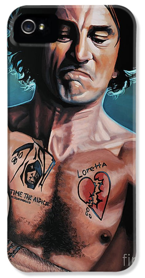Robert De Niro IPhone 5 / 5s Case featuring the painting Robert De Niro In Cape Fear by Paul Meijering