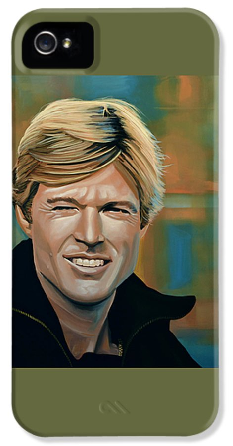 Robert Redford IPhone 5 / 5s Case featuring the painting Robert Redford by Paul Meijering