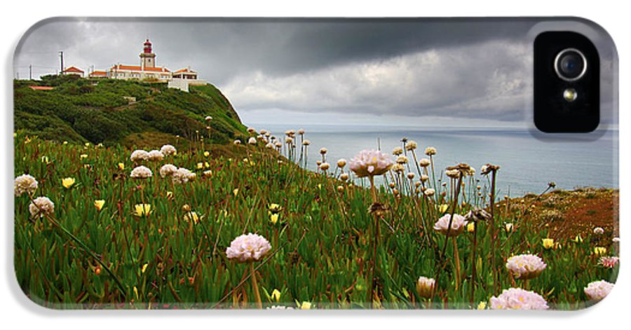 Atlantic IPhone 5 / 5s Case featuring the photograph Roca Lighthouse by Carlos Caetano