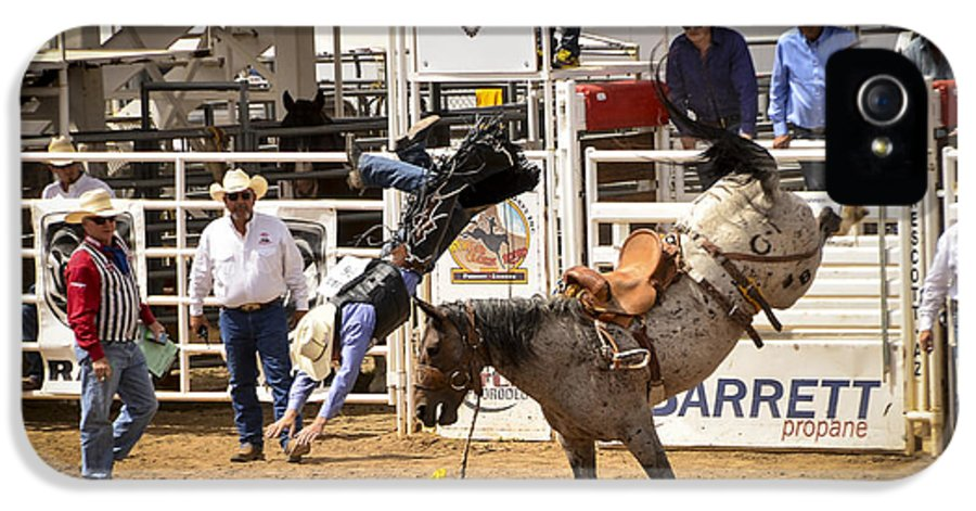 Rodeo IPhone 5 / 5s Case featuring the photograph Rodeo High Flyer by Jon Berghoff